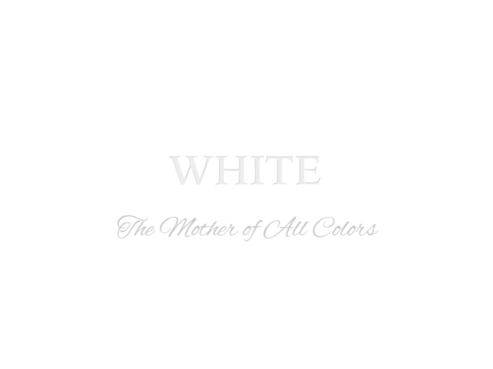 Sherwin-Williams – White, Mother of all Colors