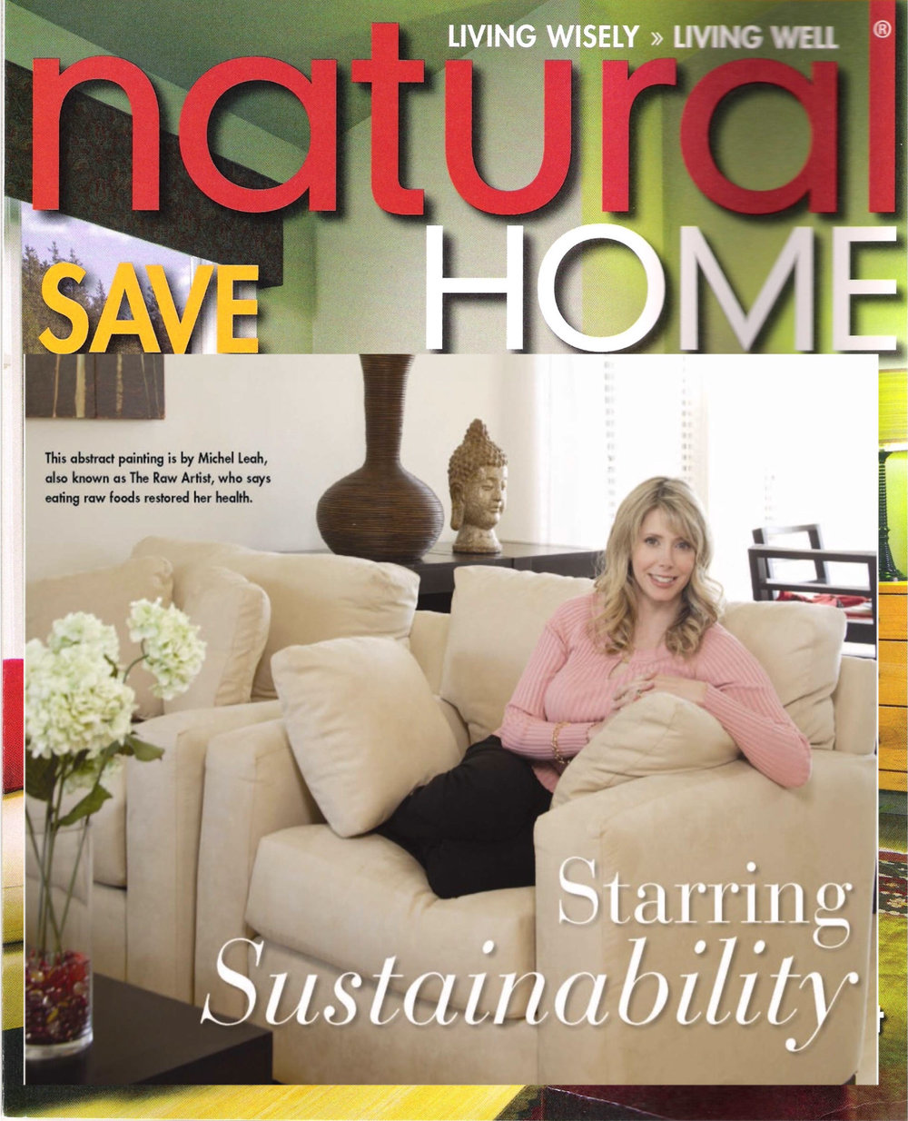 Alive & Well TV Host Michelle Harris in Natural Home Magazine - Be Green!