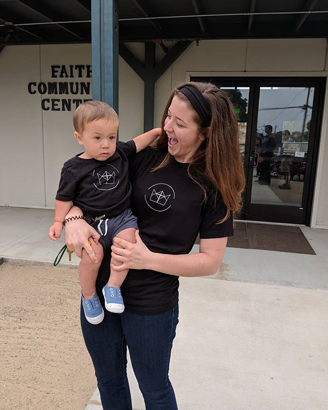 "Matching 👕 at church this past Sunday thanks to @monjeauprints  Join us this Sunday, 5pm at 1460 Hilby Ave (Faith Lutheran Church). We'll be in Matthew 9, ""A Meal with Jesus,"" looking at Jesus' gracious dinner party with the tax collector and his friends. 🥘🍲🍷"