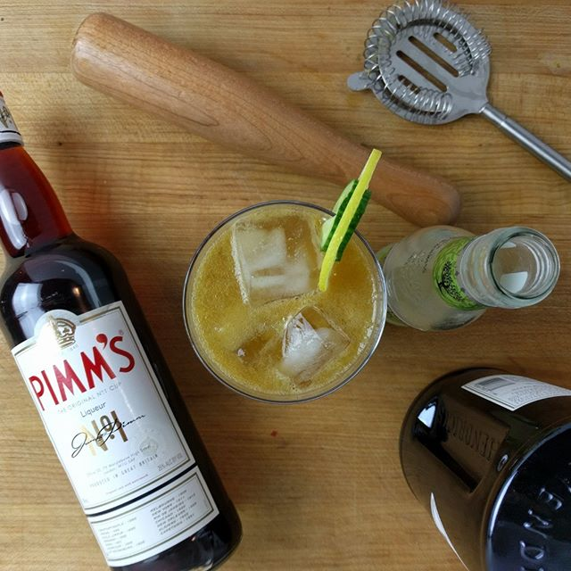 Pimm's Cup - Spring has arrived, now put it in your mouth. #cocktails #pimms #gin #hendricks  https://www.badinfluencekitchen.com/blog/2018/04/01/pimms-cup