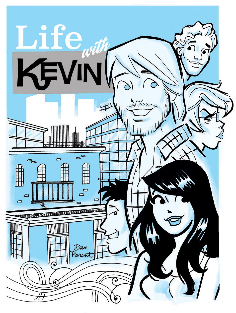 LIFE WITH KEVIN Promotional art by Dan Parent