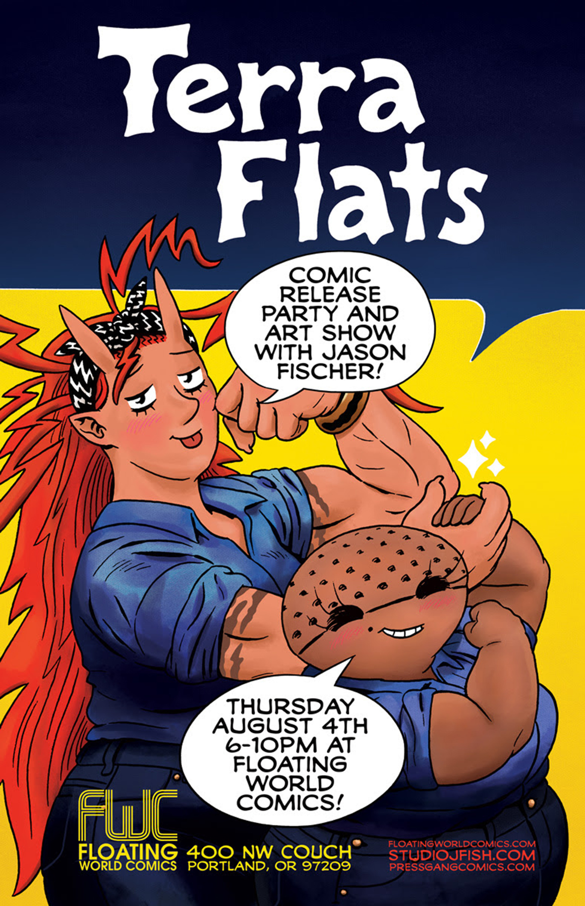 Terra Flats Release Party With Jason Fischer On August 4th Comic