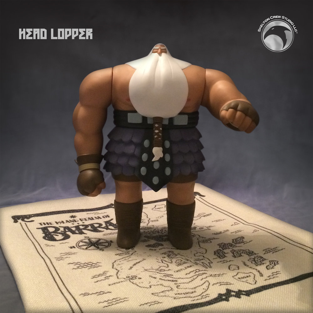 "From the pages of ""Head Lopper"" to collectors' shelves comes the massive Norgal vinyl figure"