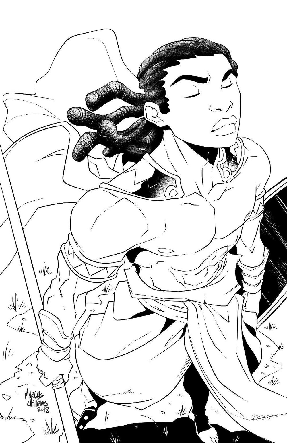 Kevin Grevioux's Njuma lineart by Marcus Williams.jpg