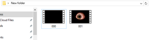 File Names - To make the video files play an ambiance/trigger(scare file). You'll need to name your video clips correctly. For my situation in the example video I wanted nothing playing. For the ambiance it had to be a black background and the eye ball video to be the triggered file. I took a black background photo and converted it to a .Mpeg format (The video player only plays video files don't upload a Image file and expect it to work!) Re-name the file to 000, 000 is your ambiance video. 001 is your scare the file that plays when a button is pressed.