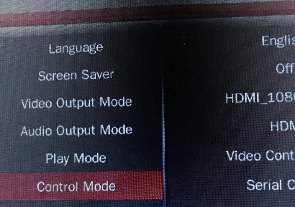 Control Mode - Scroll down to Control Mode select OK