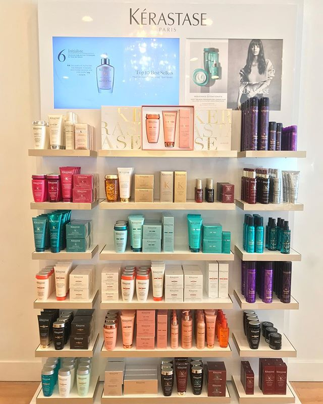 The Miracle Wall! KÉRASTASE Are you tired of having  damaged, dry hair, trouble with hair growth! We've been through that, but not anymore With KÉRASTASE TREATMENTS. Ask us any questions! We want to help 😘