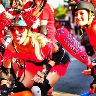 This is Running with the Bulls New Orleans style. 🐃  www.runningwiththebullsinsidertours.com  #runningwiththebulls #nola #festivalinsidertours #party #bucketlist #funtimes