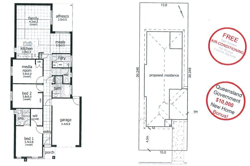 Lot 296 Floor and lot plan Fernbrooke Ridge.jpg