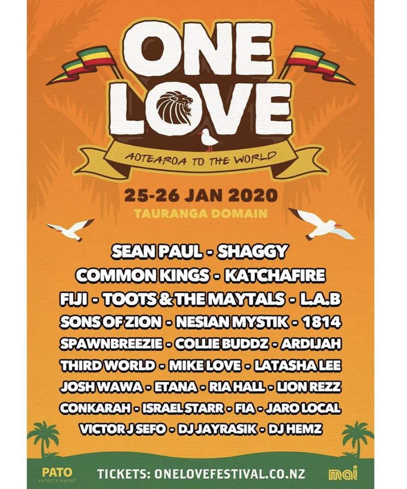 Headed back to New Zealand 🇳🇿for One Love Festival in New