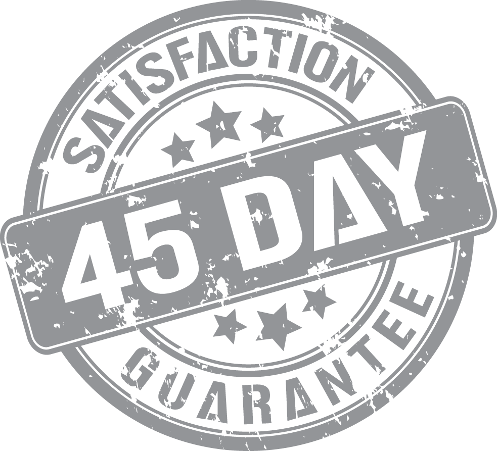 Our brand promise. - We will not advertise product at inflated power or modify the specs in any way. We are so confident in the quality of our product that we offer a 45-day satisfaction guarantee on all our products.