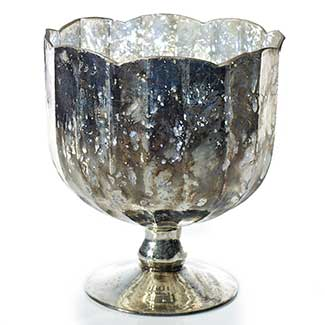 Silver Mercury Footed Vase