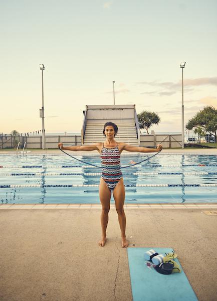swimmer poolside exercises