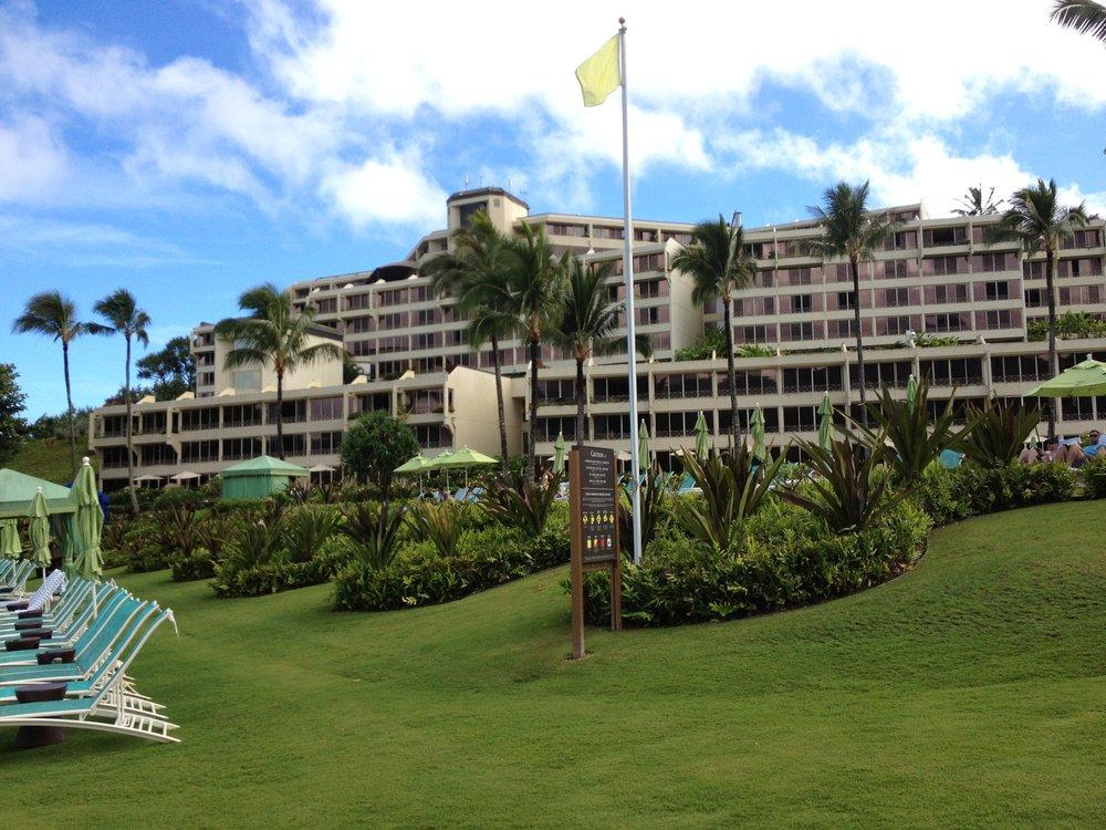 Kauai - from the beach looking toward the St. Regis Princeville.jpg
