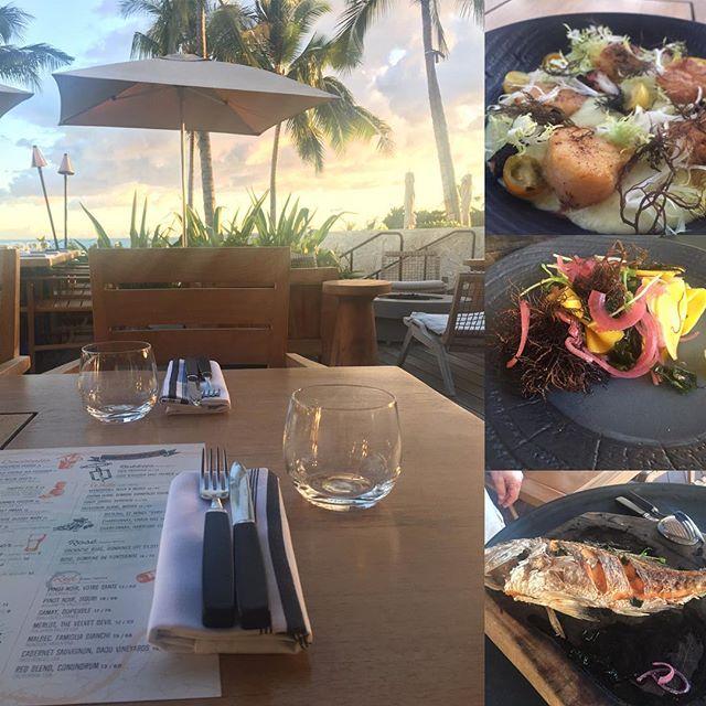 Pure #happyhour @fsoahu Fish House @martinebc - good ordering!  #lethawaiihappen #Oahu #Hawaii #seafood #beatsunset #view @koolinaresort #westside
