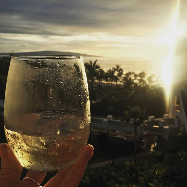 "#AlohaFriday from the largest ""grandest"" resort on Maui!  Grateful to be here w/ my ""research"" crew @natalietowle_ @ali_rolnick  #HappyHour #lethawaiihappen #maui #seemaui @bonterra toast! #vacation #skiweek #travel #hawaii"