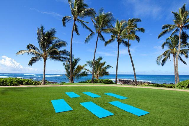 Where do you like to do #Yoga?  #TuesdayTraining #Kauai #Poipu #hawaii #travel #fitness