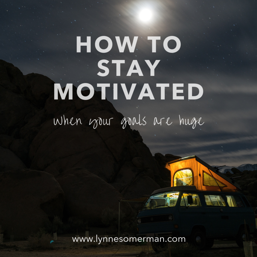 Personal finance tips    How to stay motivated when your goals are huge by The Wiser Miser. This is how you can stay motivated to pay off debt and reach other financial goals.
