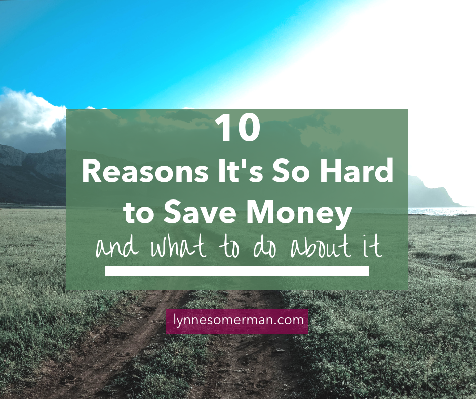 Personal finance advice || 10 reasons it's so hard to save money (and what to do about them) by The Wiser Miser. Here's some advice on how to budget and save money.