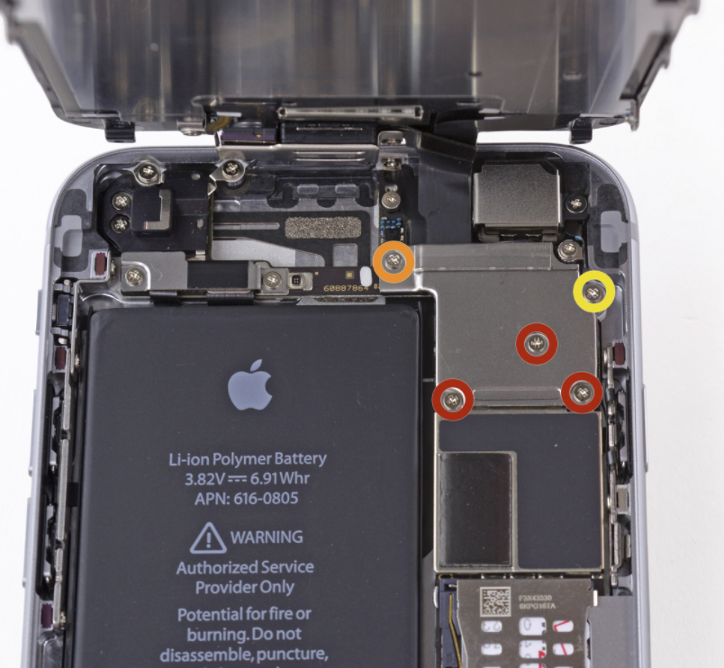 iPhone 6 screw layout