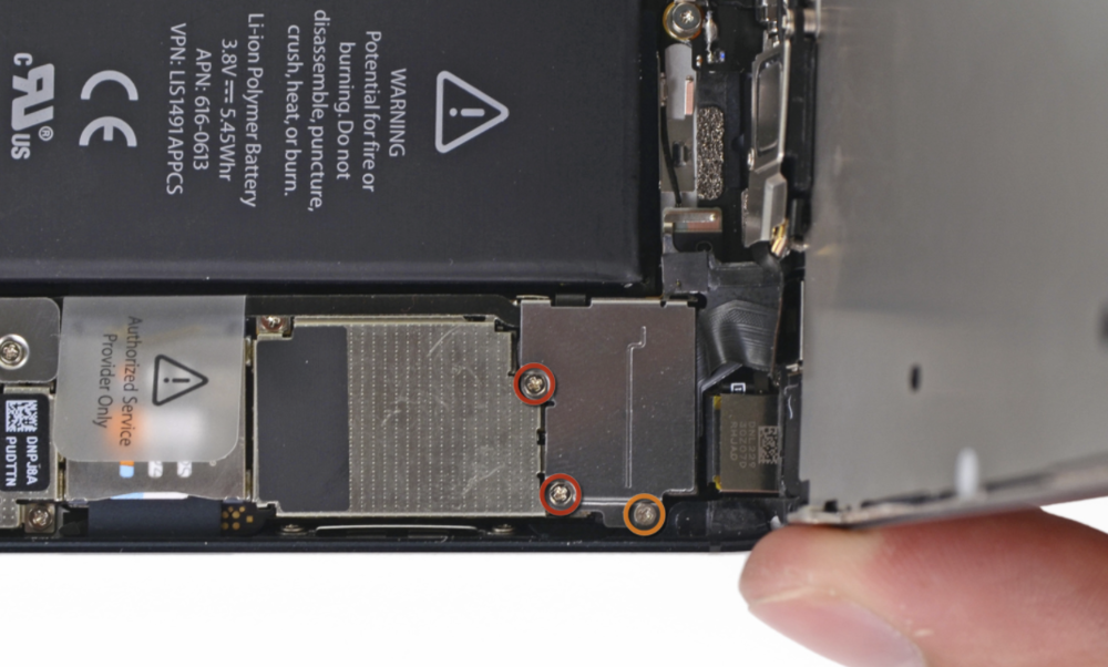 iPhone 5 screw layout