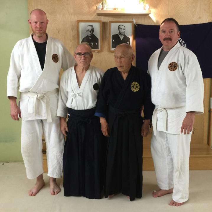 Kiyama Shihan, Goldberg Sensei, and Study Group leaders John Sorensen and Marc Zifcak. June 2016