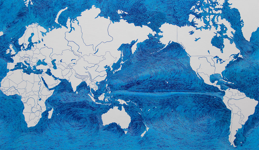 World - Ocean Currents, Hannah Jensen, 2016