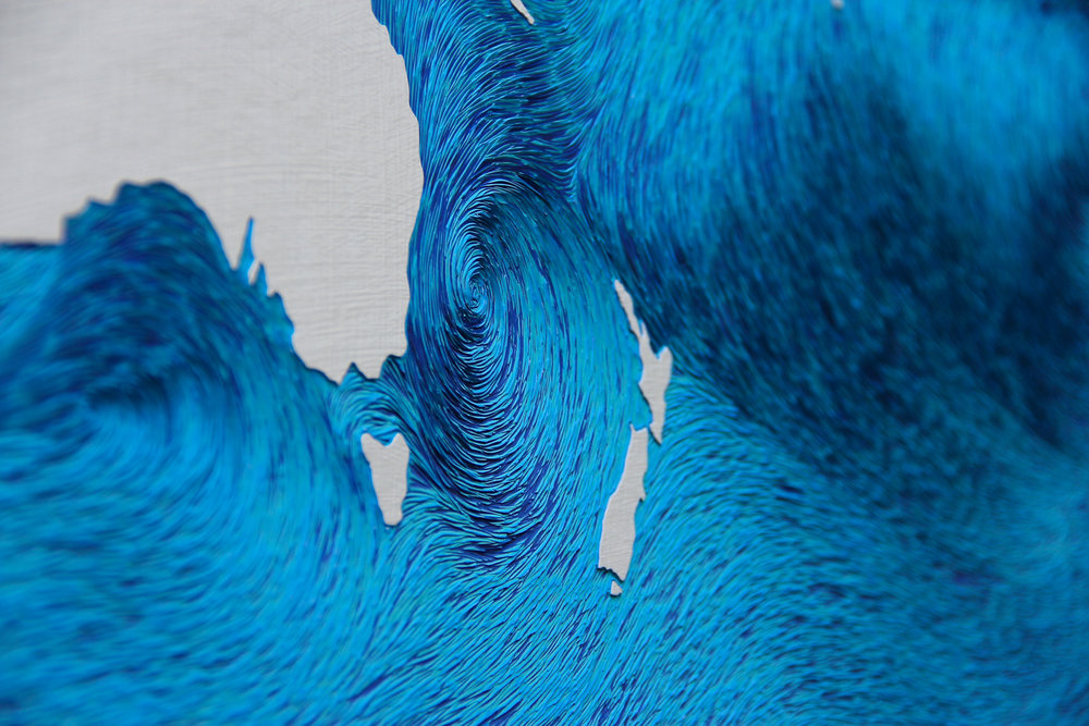 World - Ocean Currents,  detail -  Hannah Jensen, 2016