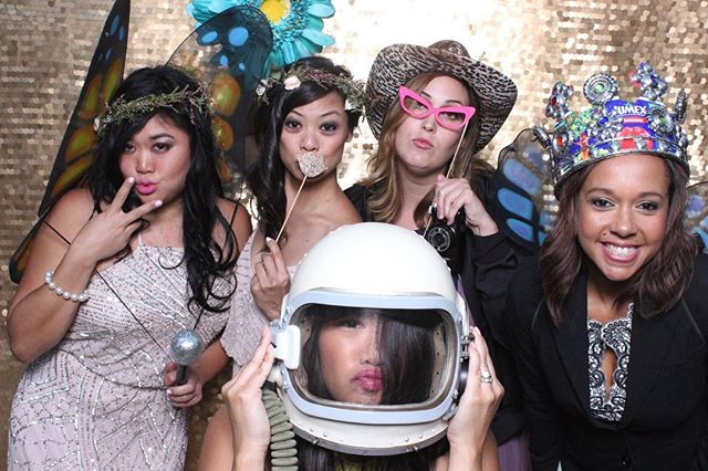 Props or no props? It is different for every event but If your guests can rock the props like these girls- How could you say no?  #weddingphotobooth