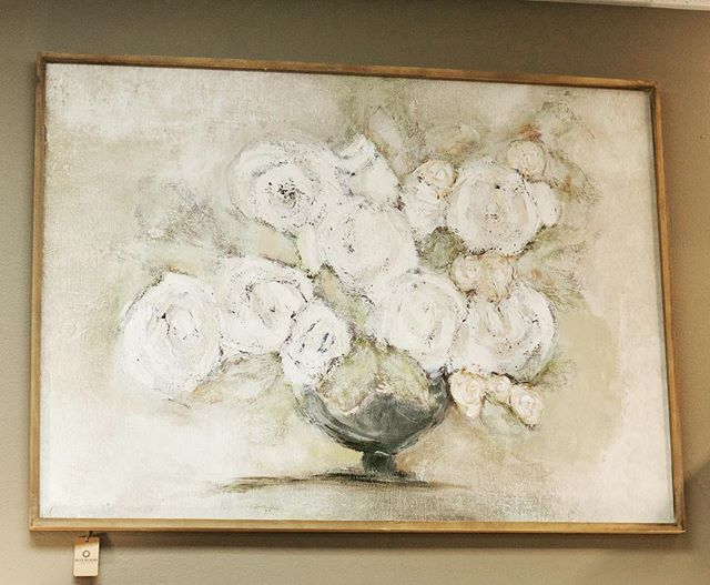 Gorgeous new peaceful floral artwork 🍃 Soft greens and creams, with a bit of white and gray! • • • • • #boxwoodhomeandgift #myboxwoodhome #newhomedecor #homedecor #houstonboutiques #houston #atascocita #kingwood #humbletx #floralartwork #houstongifts
