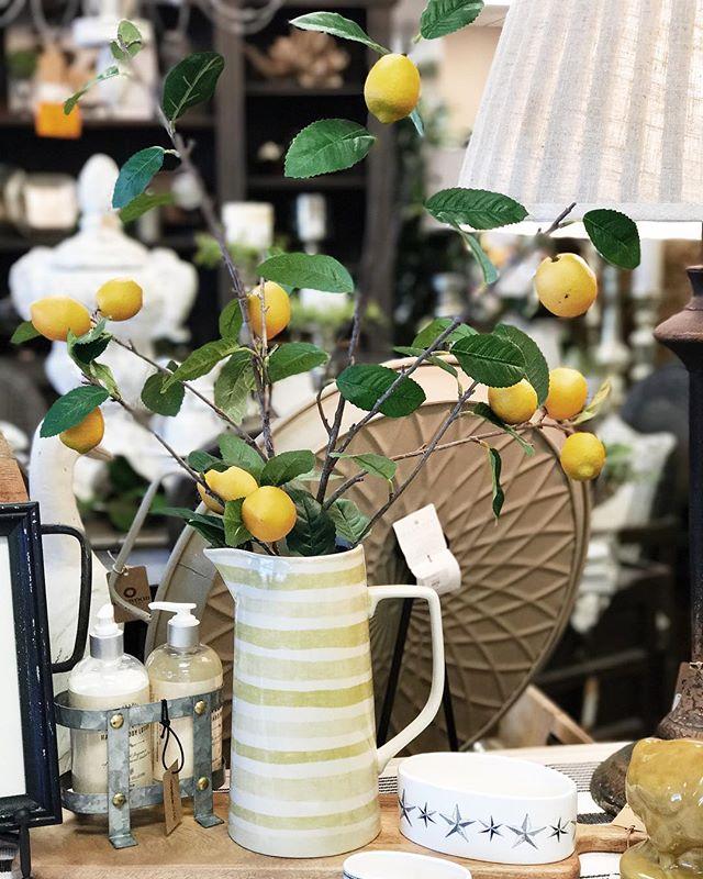 Nothing says fresh like lemons do! 🍋 • • • • • #BoxwoodHomeandGift #myboxwoodhome #spring #springdecor #lemondecor #houstonboutiques #houston #atascocita #kingwood #humbletx