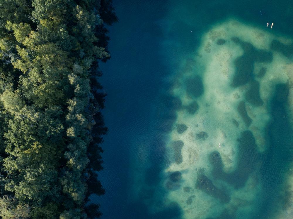 Unsere heimischen Gewässer aus der Vogelperspektive.