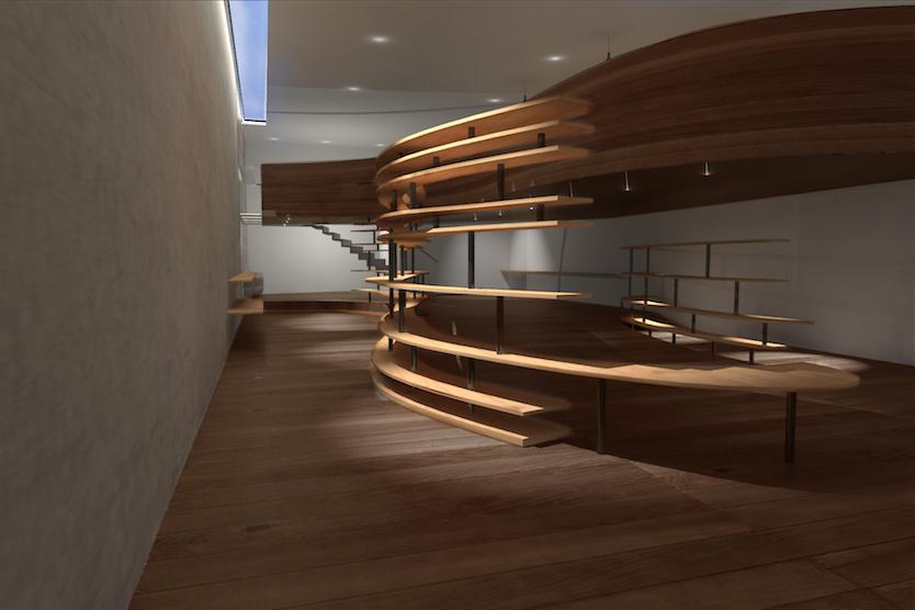 Kitchenette Interior/Environment Design, Lettering