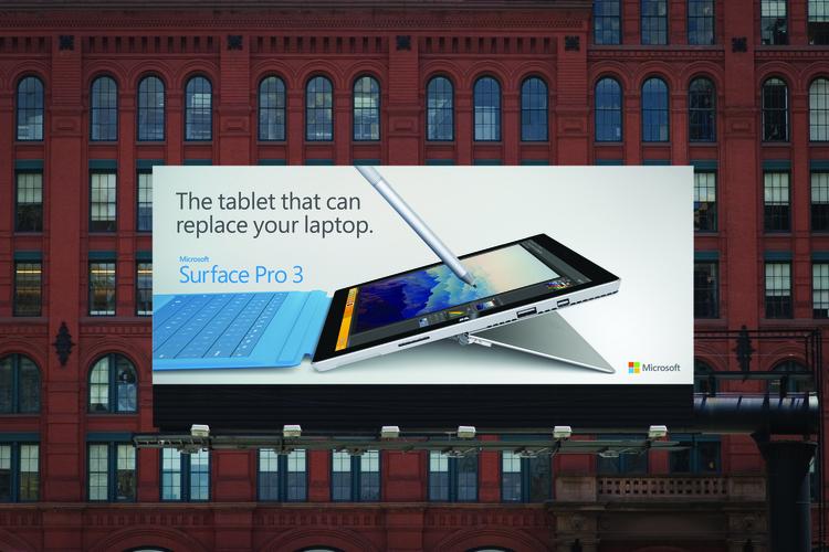 Microsoft Surface Pro 3 Ad Print communication, Advertising