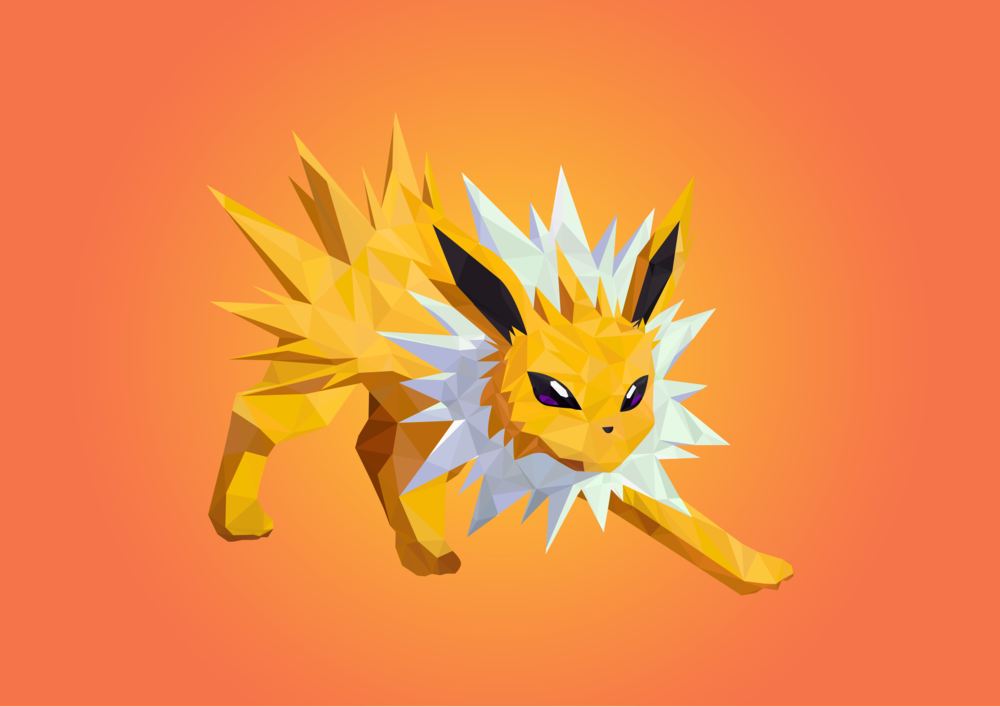 Geometric Jolteon - Apollo Creative Co - Hampshire Graphic Design