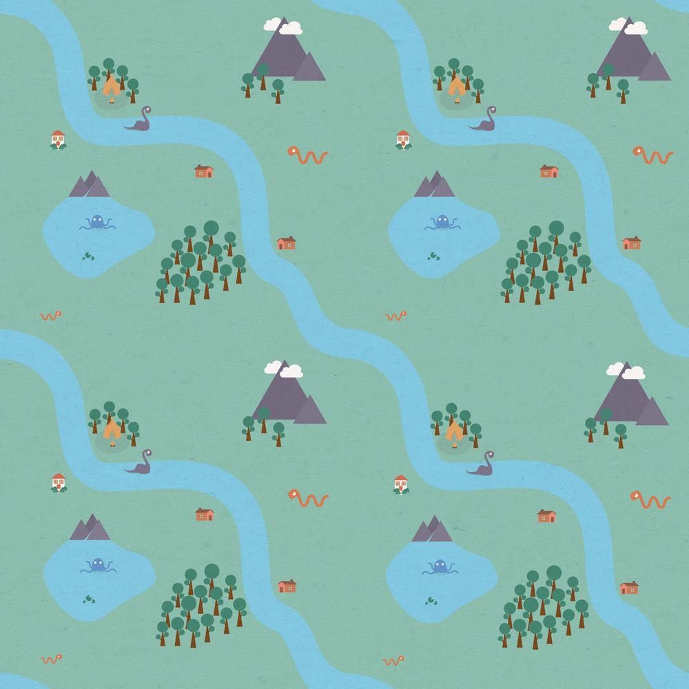 Repeating River - Apollo Creative Co - Hampshire Graphic Design