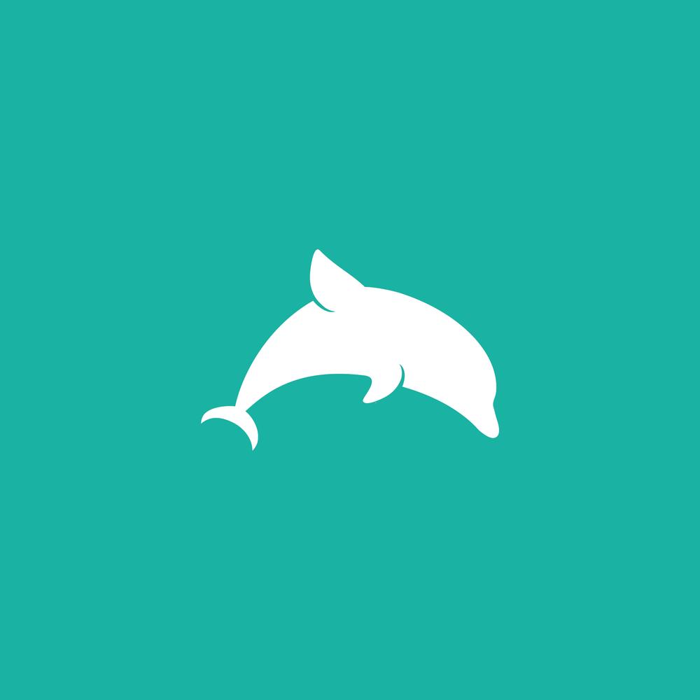 Dolphin Logo - Apollo Creative Co - Hampshire Graphic Design