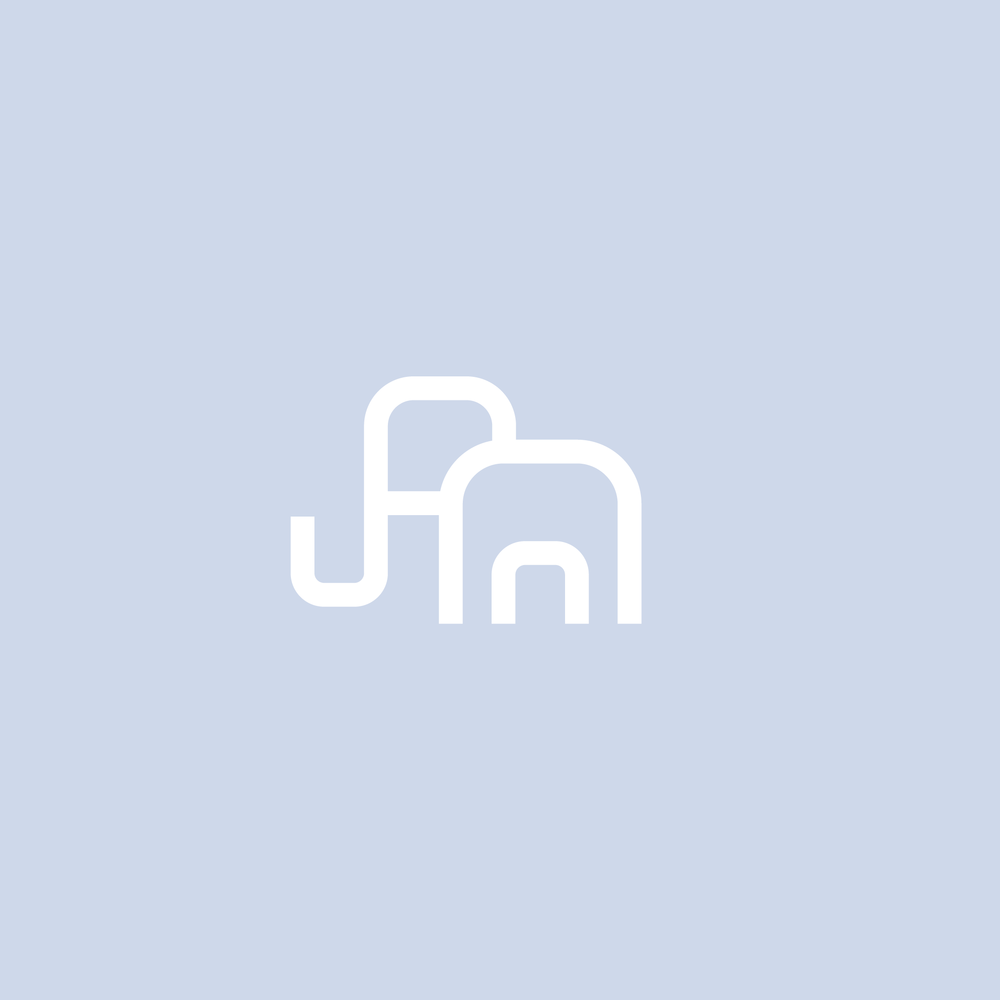 Minimal Elephant Logo - Apollo Creative Co - Hampshire Graphic Design
