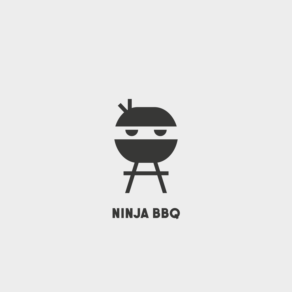 Ninja BBQ Logo - Apollo Creative Co - Hampshire Graphic Design