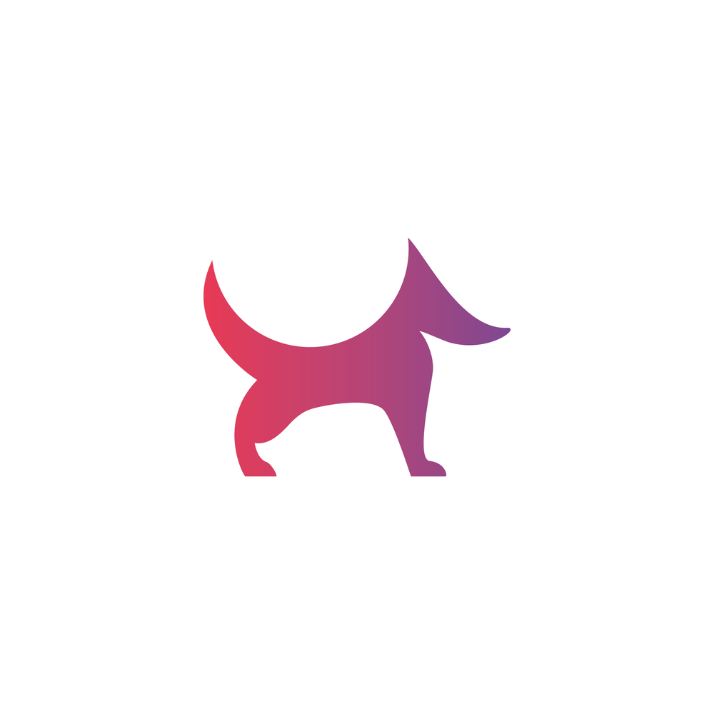 Gradient Dog Logo - Apollo Creative Co. - Hampshire Graphic Design