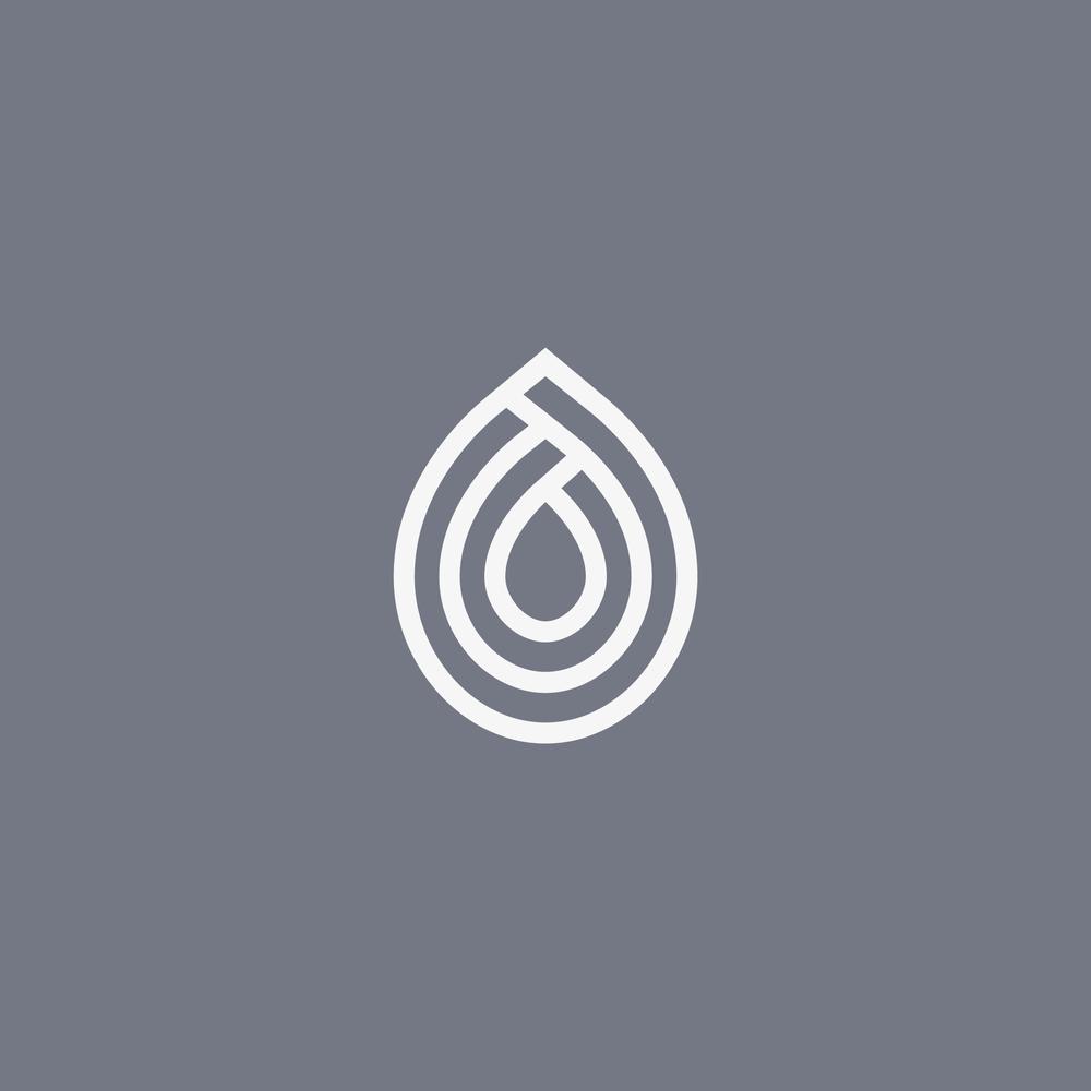 Droplet Logo Design - Apollo Creative Co. - Hampshire Graphic Design