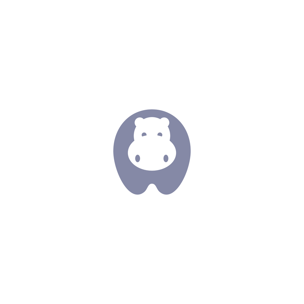 Hippo Logo - Apollo Creative Co. - Hampshire Graphic Design