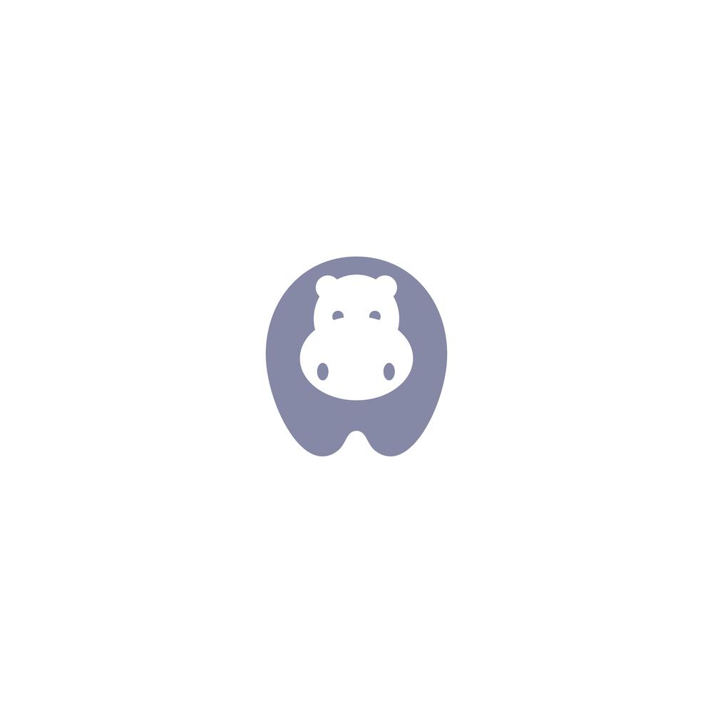 Hippo Logo - Apollo Creative Co. - Hampshire Graphic Design