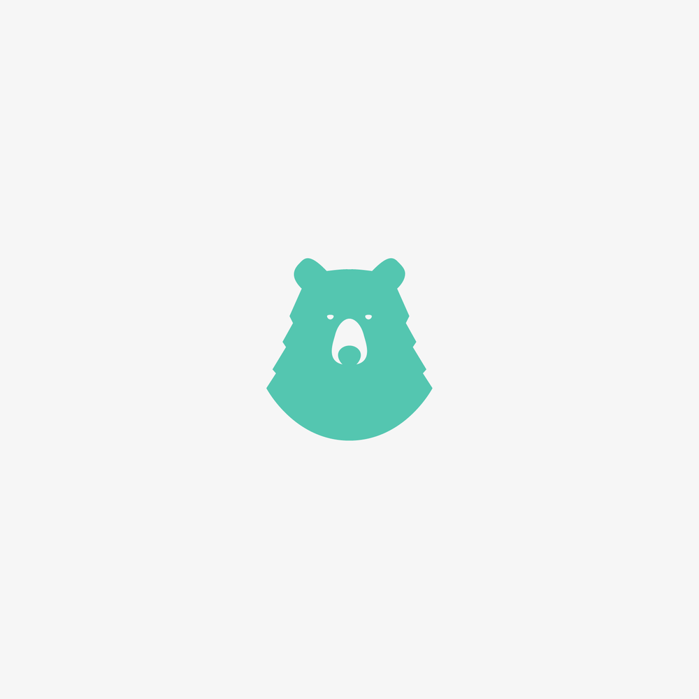 Mint Bear Logo - Apollo Creative Co. - Hampshire Graphic Design
