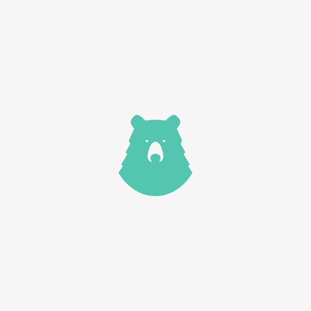 Mint Bear Logo - Apollo Creative Co. - Hampshire Graphic Design