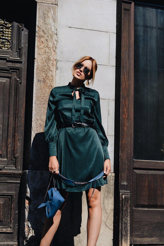 OUTFIT DETAILS - DRESS MANGOBELT H&MBAG FRACHELLASUNGLASSES DIOREARRINGS PARFOIS