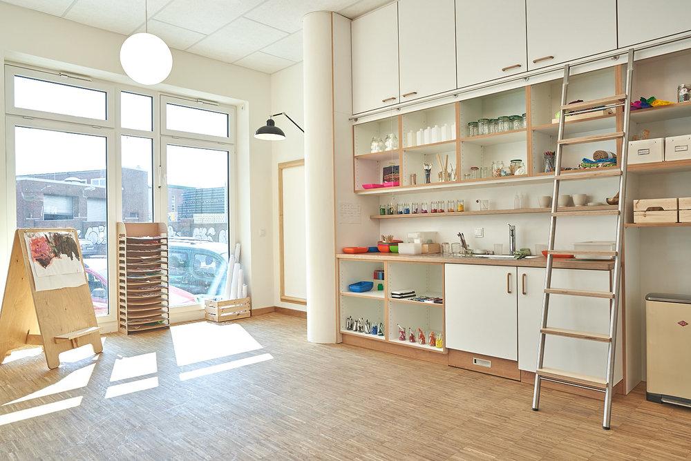 Hamburg, Neue Mitte Altona, Moete, Kita Sandvika, Atelier, Lernwerkstatt, Kita, Kindergarten, Kindertagesstätte, Krippe 03.jpg