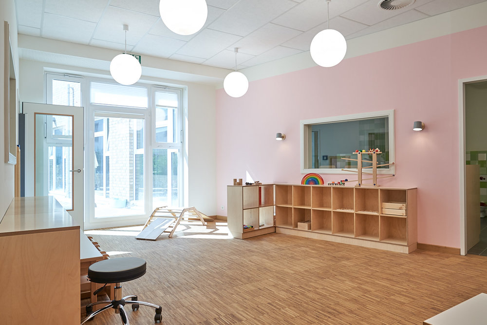 Hamburg, Neue Mitte Altona, Moete, Kita Sandvika, Krippe, U3, Kita, Kindergarten, Kindertagesstätte, Schlafpodest, Krippe 04-02.jpg