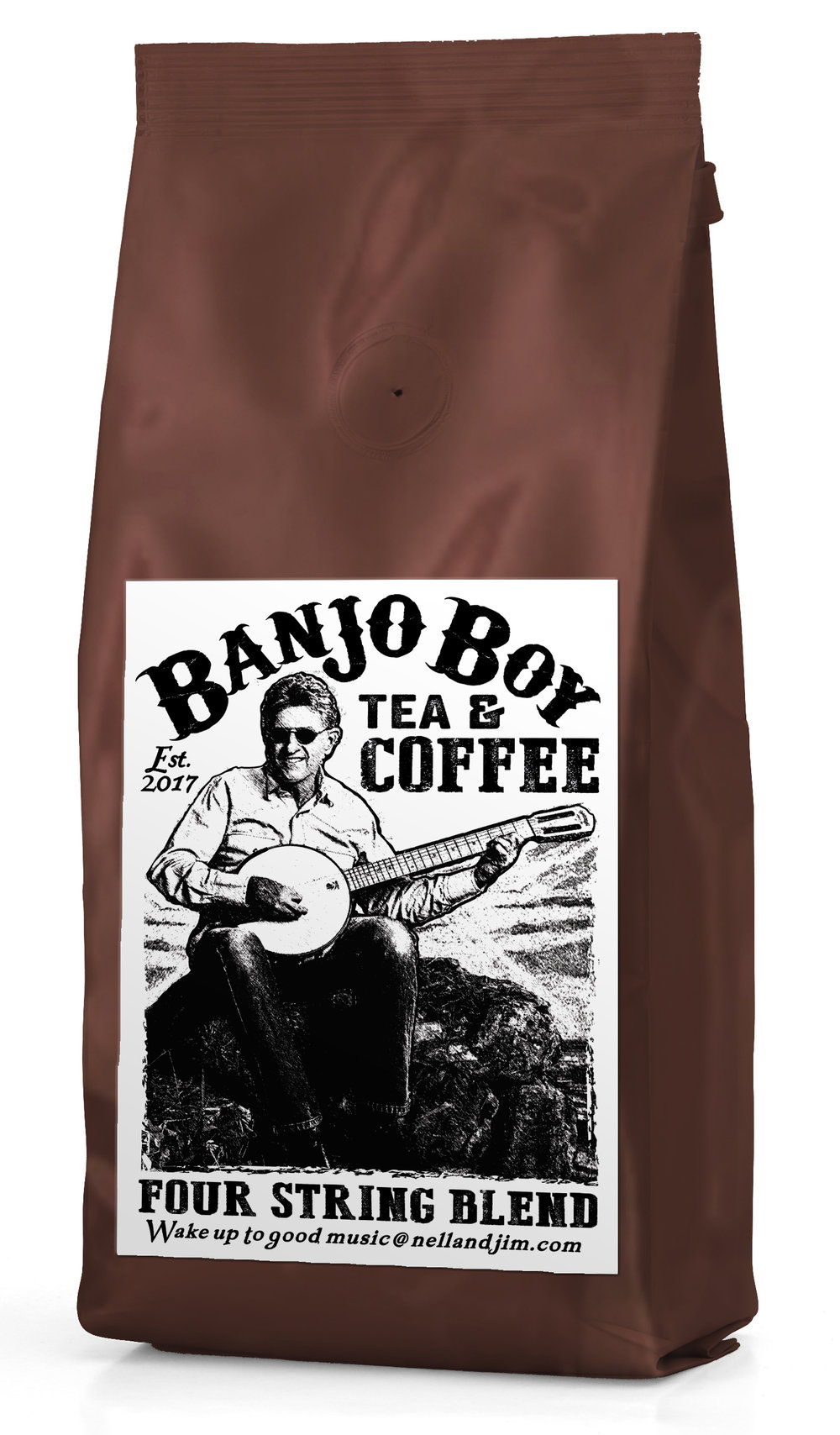 Four String Blend - This light roast blend has the classic Kona flavor profile, taste the air and smell the sea 'round the islands, bright overtones with hues of honey.