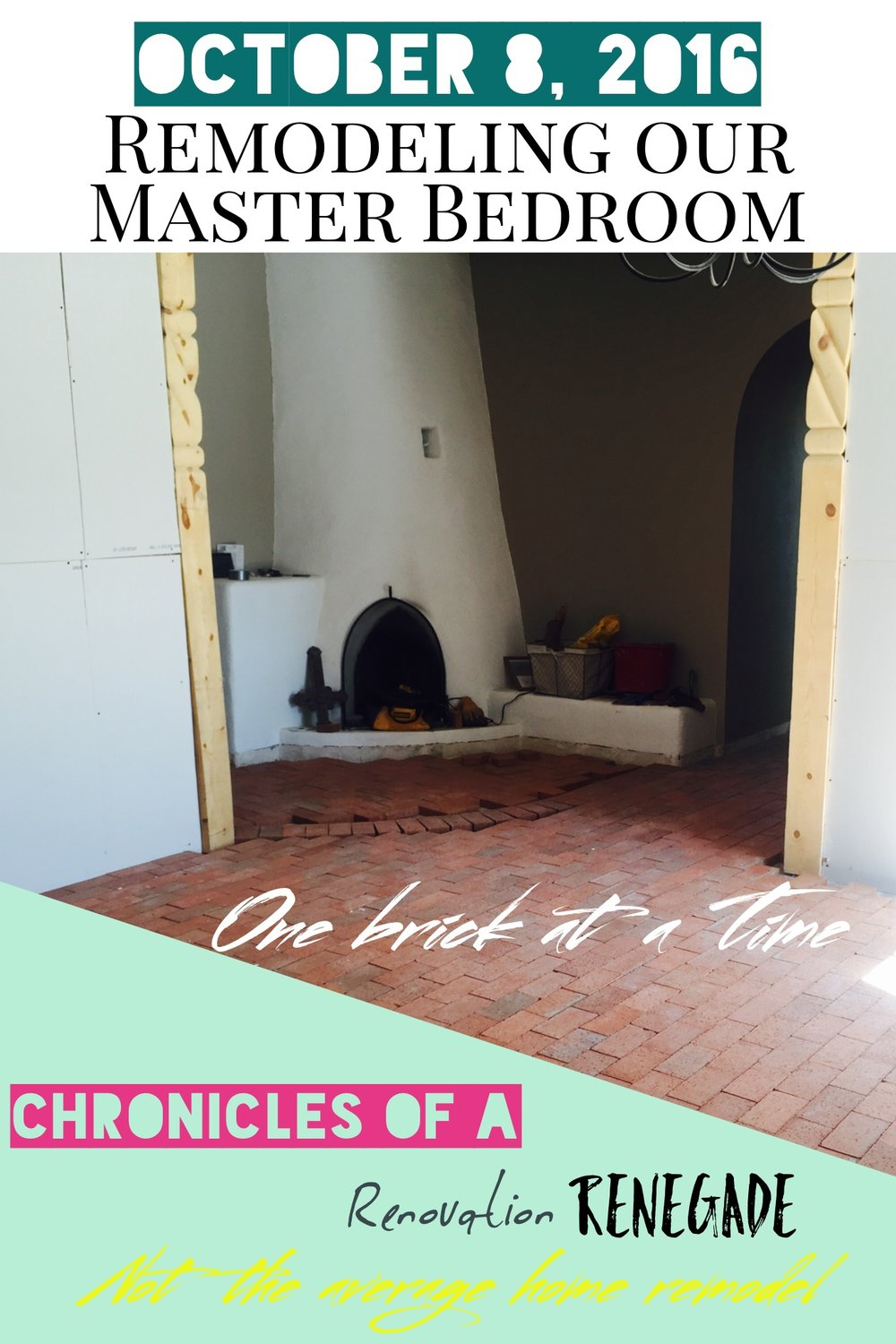 Remodeling our Master Bedroom- One brick at a timehttp://www.renovationrenegade.com/